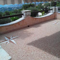 Terrasse mouchetée